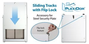 Sliding tracks with flip lock