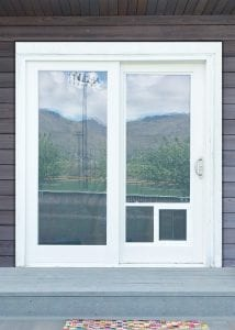 PlexiDor Glass Series dog door in sliding glass door