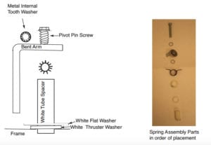 PlexiDor small spring assembly parts