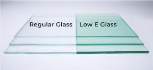 Regular glass vs Low E Glass comparison