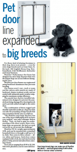 PlexiDor pet doors featured in the Calgary Sun