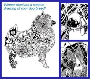Win a handmade drawing of your dog breed